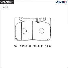 Дисковые тормозные колодки ADVICS SN286E