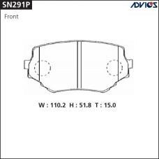 Дисковые тормозные колодки ADVICS SN291P