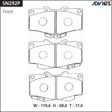 Дисковые тормозные колодки ADVICS SN292P