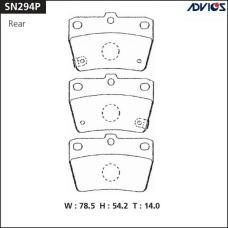 Дисковые тормозные колодки ADVICS SN294P
