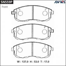 Дисковые тормозные колодки ADVICS SN559P