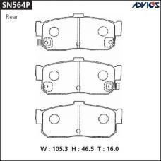 Дисковые тормозные колодки ADVICS SN564P