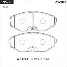 Дисковые тормозные колодки ADVICS SN572P
