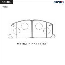 Дисковые тормозные колодки ADVICS SN606