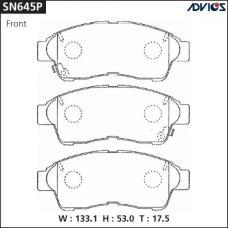 Дисковые тормозные колодки ADVICS SN645P