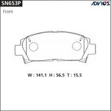 Дисковые тормозные колодки ADVICS SN653P