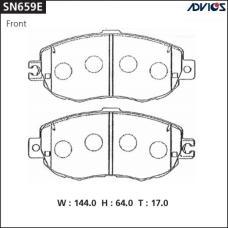 Дисковые тормозные колодки ADVICS SN659E