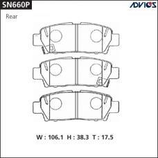 Дисковые тормозные колодки ADVICS SN660P