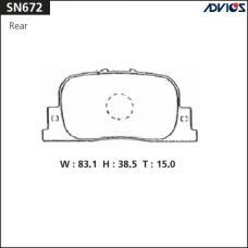Дисковые тормозные колодки ADVICS SN672