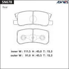Дисковые тормозные колодки ADVICS SN678