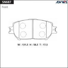 Дисковые тормозные колодки ADVICS SN687