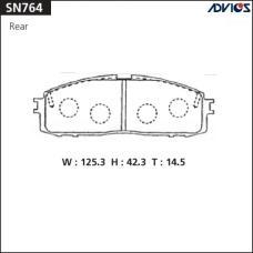 Дисковые тормозные колодки ADVICS SN764