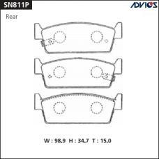 Дисковые тормозные колодки ADVICS SN811P