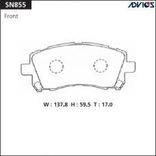 Дисковые тормозные колодки ADVICS SN855
