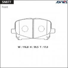 Дисковые тормозные колодки ADVICS SN877