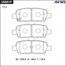 Дисковые тормозные колодки ADVICS SN891P