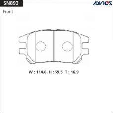 Дисковые тормозные колодки ADVICS SN893