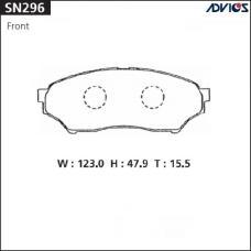 Дисковые тормозные колодки ADVICS SN296