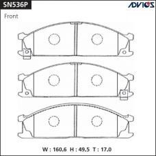 Дисковые тормозные колодки ADVICS SN536P