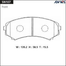 Дисковые тормозные колодки ADVICS SN107