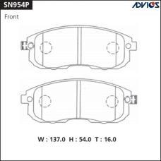 Дисковые тормозные колодки ADVICS SN954P