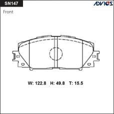 Дисковые тормозные колодки ADVICS SN147