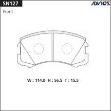 Дисковые тормозные колодки ADVICS SN127