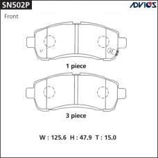 Дисковые тормозные колодки ADVICS SN502P
