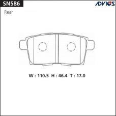 Дисковые тормозные колодки ADVICS SN586