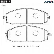 Дисковые тормозные колодки ADVICS SN581P