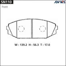Дисковые тормозные колодки ADVICS SN110