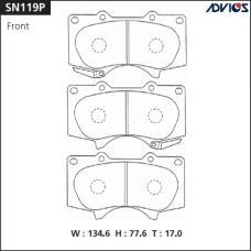Дисковые тормозные колодки ADVICS SN119P