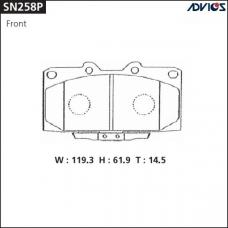 Дисковые тормозные колодки ADVICS SN258P