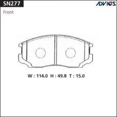 Дисковые тормозные колодки ADVICS SN277