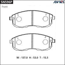 Дисковые тормозные колодки ADVICS SN596P