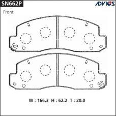 Дисковые тормозные колодки ADVICS SN662P