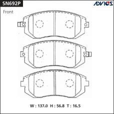 Дисковые тормозные колодки ADVICS SN692P