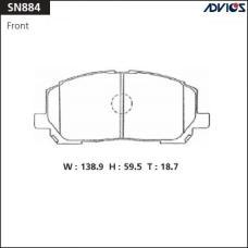 Дисковые тормозные колодки ADVICS SN884