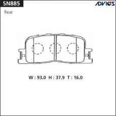 Дисковые тормозные колодки ADVICS SN885