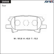 Дисковые тормозные колодки ADVICS SN908