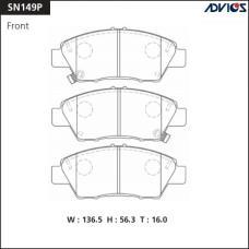 Дисковые тормозные колодки ADVICS SN149P