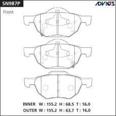 Дисковые тормозные колодки ADVICS SN987P