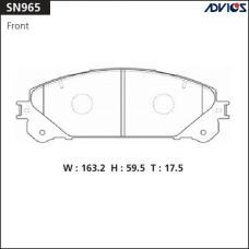 Дисковые тормозные колодки ADVICS SN965