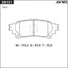 Дисковые тормозные колодки ADVICS SN151
