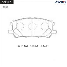 Дисковые тормозные колодки ADVICS SN907