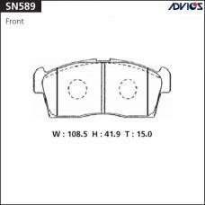 Дисковые тормозные колодки ADVICS SN589