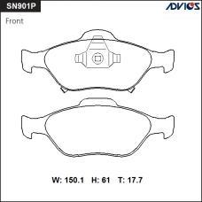 Дисковые тормозные колодки ADVICS SN901P