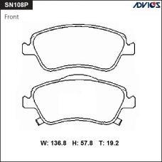 Дисковые тормозные колодки ADVICS SN108P