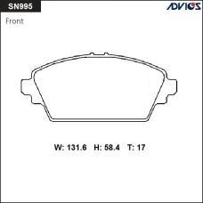 Дисковые тормозные колодки ADVICS SN995
