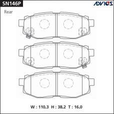 Дисковые тормозные колодки ADVICS SN146P